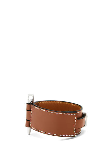 LOEWE Gate Bracelet In Calfskin 棕褐 pdp_rd