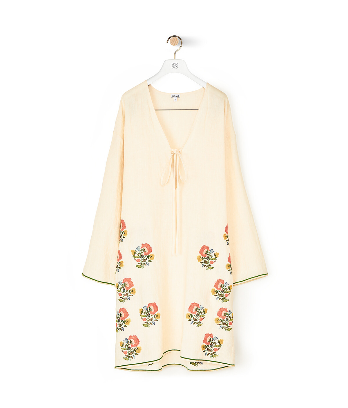 LOEWE Tunic Top Flower Embroidery Ecru front