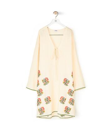 LOEWE Tunic Top Flower Embroidery Ecru front