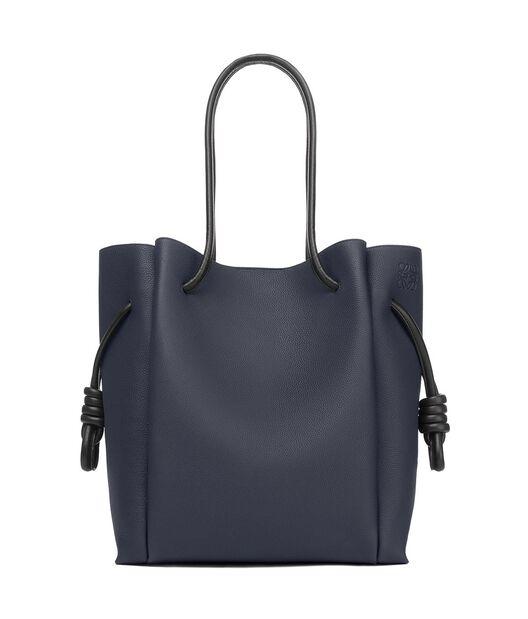 LOEWE Flamenco Knot Tote Bag Midnight Blue/Black all