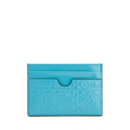 LOEWE Plain Cardholder ピーコック ブルー front