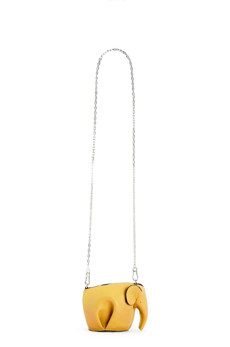 LOEWE Elephant Pouch in classic calfskin Yellow pdp_rd