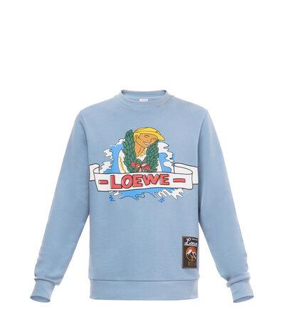 LOEWE Holiday Sweatshirt Sky Blue front