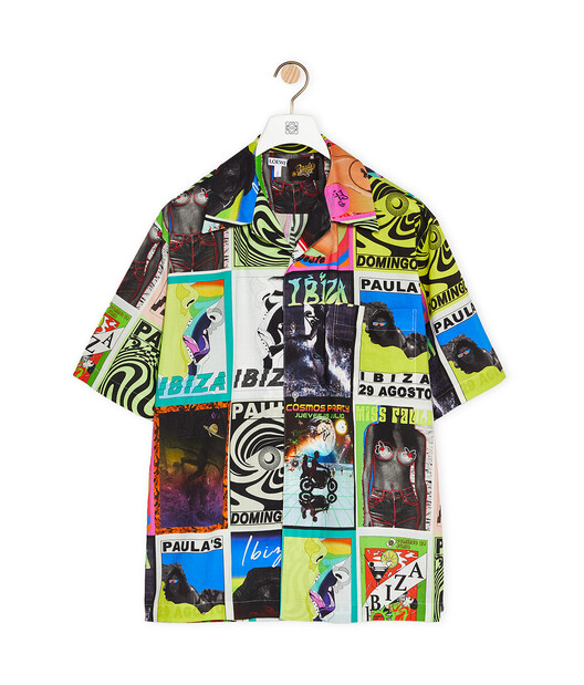 LOEWE Shirt In Cotton With Club Flyer Motifs Multicolor front