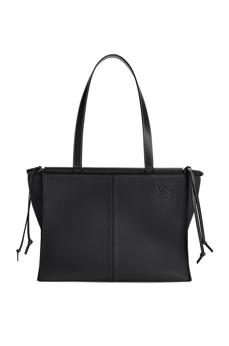 LOEWE Cushion tote bag in soft grained calfskin Black pdp_rd