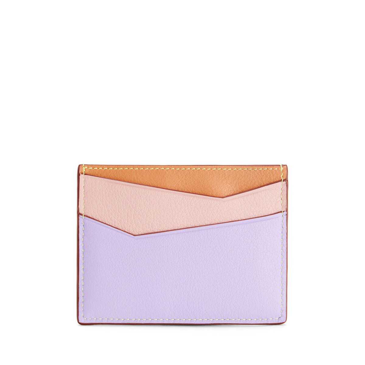 LOEWE Puzzle Plain Cardholder In Classic Calfskin Mauve/Soft Apricot front