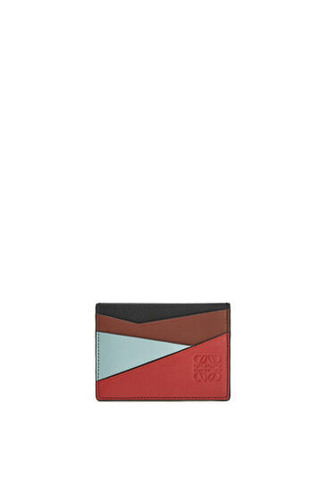 LOEWE Puzzle plain cardholder in classic calfskin Pomodoro/Black pdp_rd