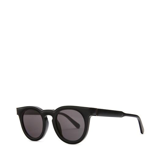 LOEWE Round Padded Sunglasses Black/Smoke front