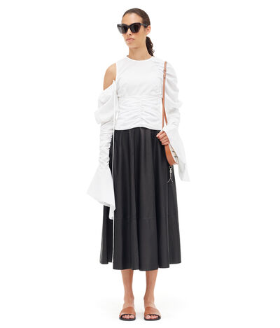 LOEWE Gathered Top 白色 front