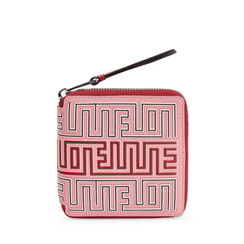 LOEWE Maze Square Zip Wallet Candy/Rouge front
