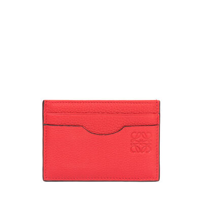LOEWE Plain Card Holder Scarlet Red/Brick Red front