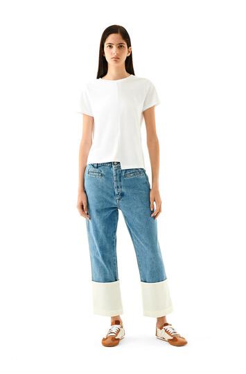 LOEWE Trousers Azul Denim front