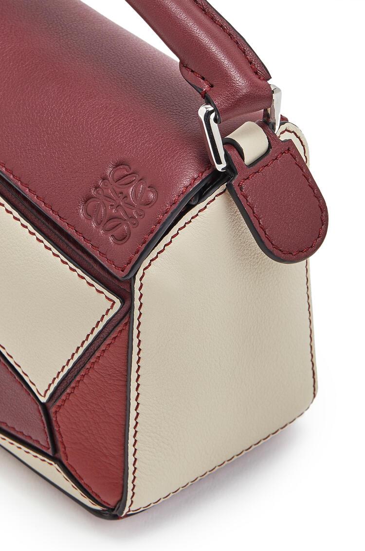 LOEWE Mini Puzzle bag in classic calfskin Wine/Garnet pdp_rd