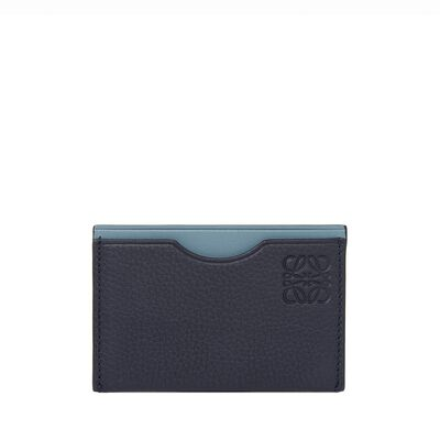LOEWE Simple Card Holder Midnight Blue/Stone Blue front