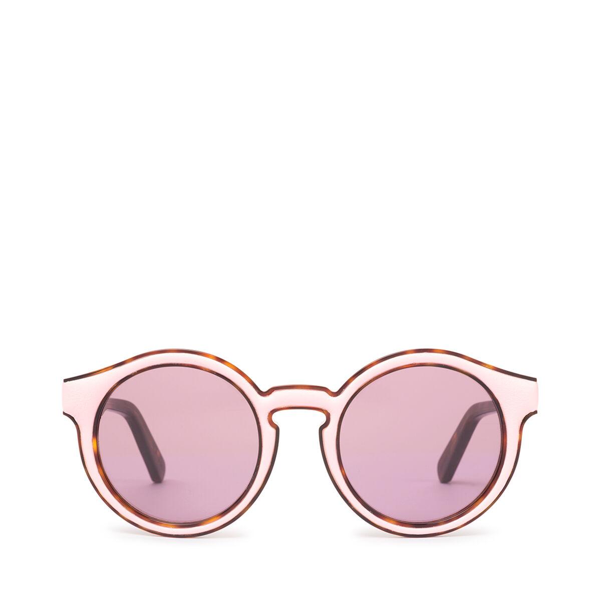 LOEWE Gafas Redondas Acolchadas Rosa/Rosa front