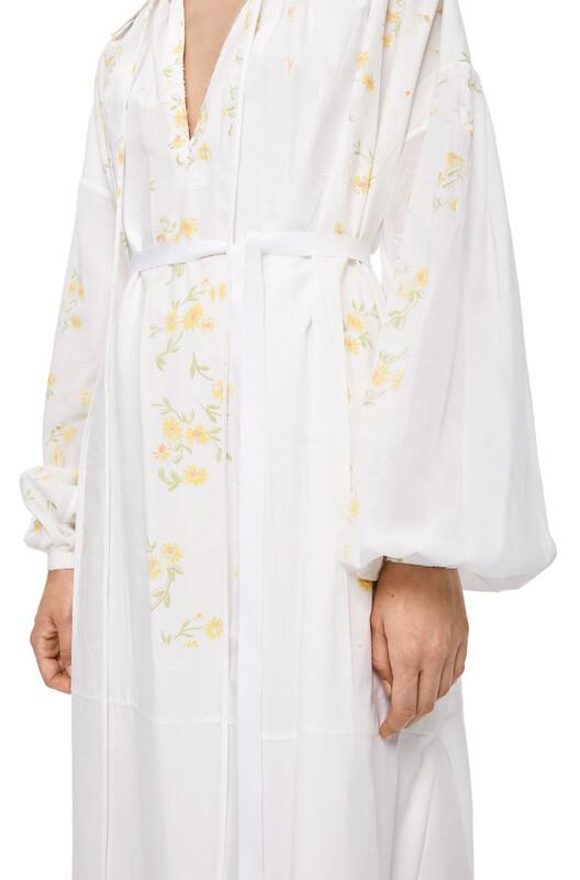 LOEWE Flower Print Shirtdress White front