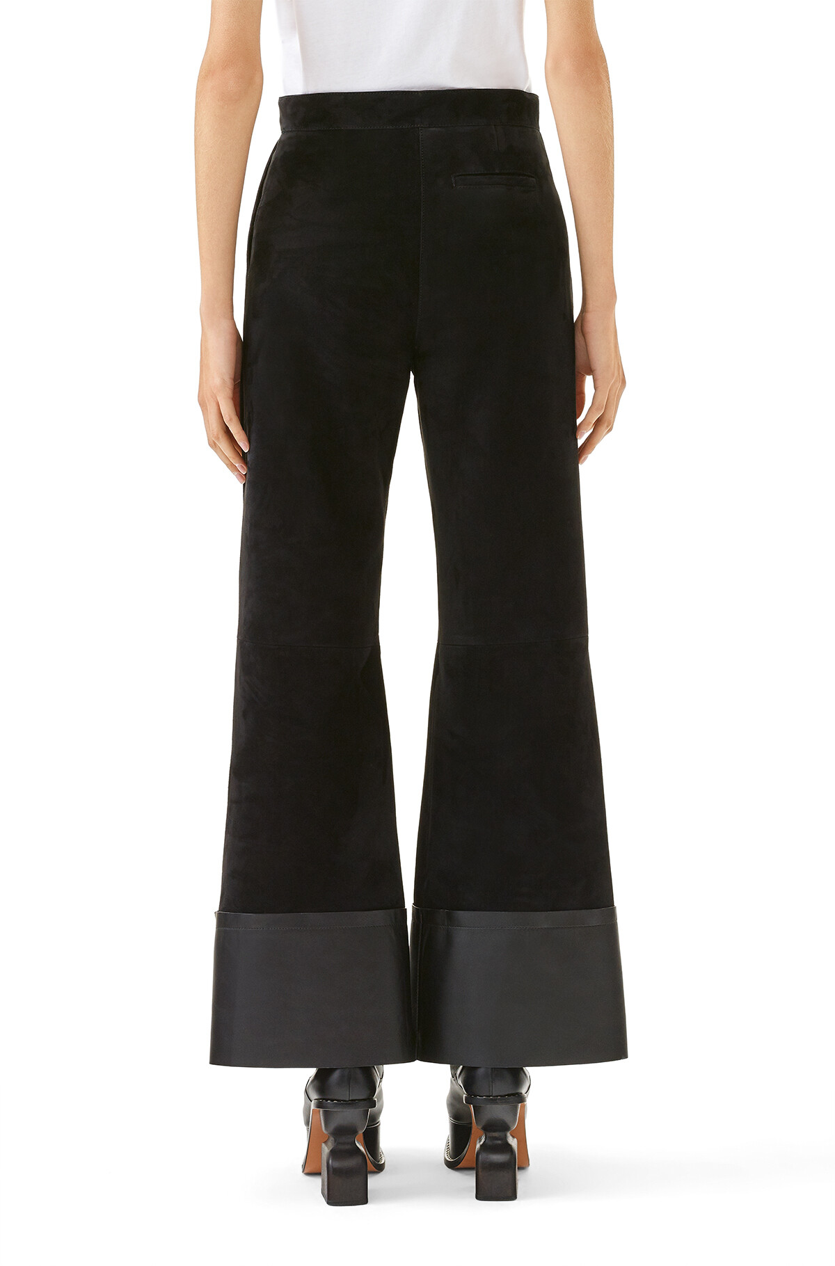 LOEWE Flare Trousers Black front
