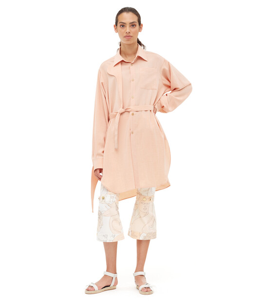 LOEWE Strap Oversize Shirt Peach front