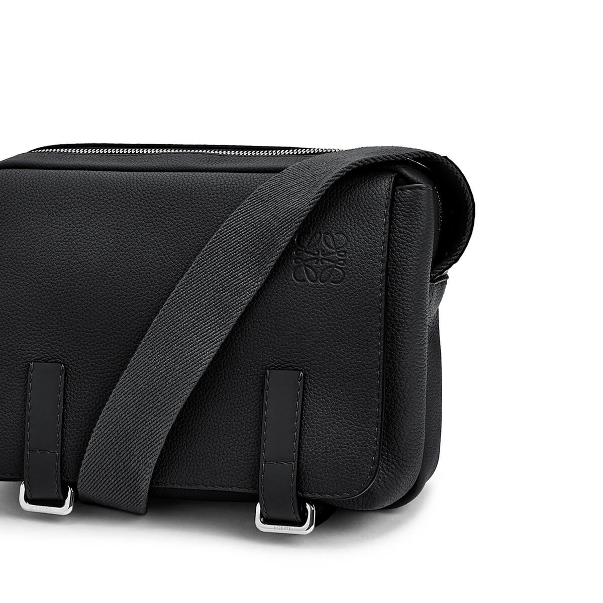LOEWE Military Messenger Xs Bag Black front
