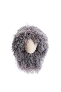 LOEWE Wig hat in feathers Grey pdp_rd