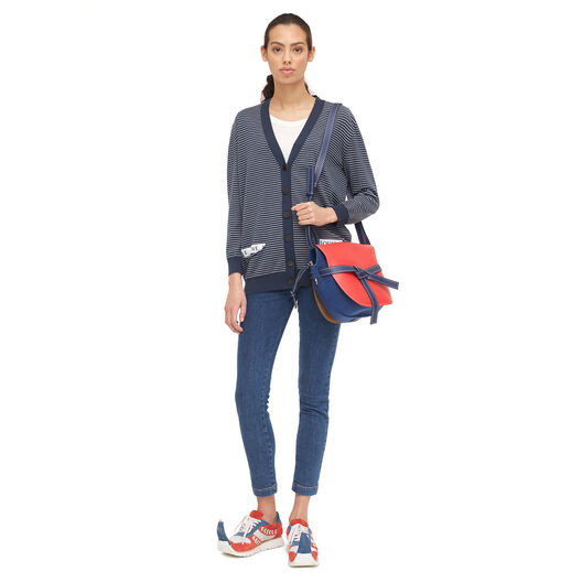 LOEWE ゲート バッグ Royal Blue/Primary Red/Midn Bl all