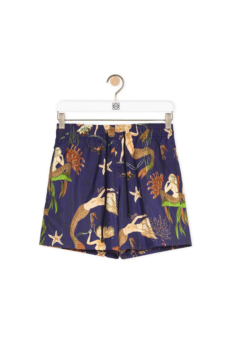 LOEWE Swim Shorts In Mermaid Polyamide Navy Blue pdp_rd