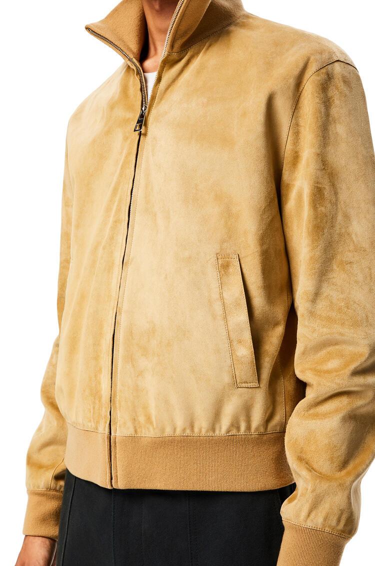 LOEWE Zip jacket in suede Gold pdp_rd
