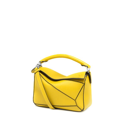 LOEWE Mini Puzzle Bag Yellow front
