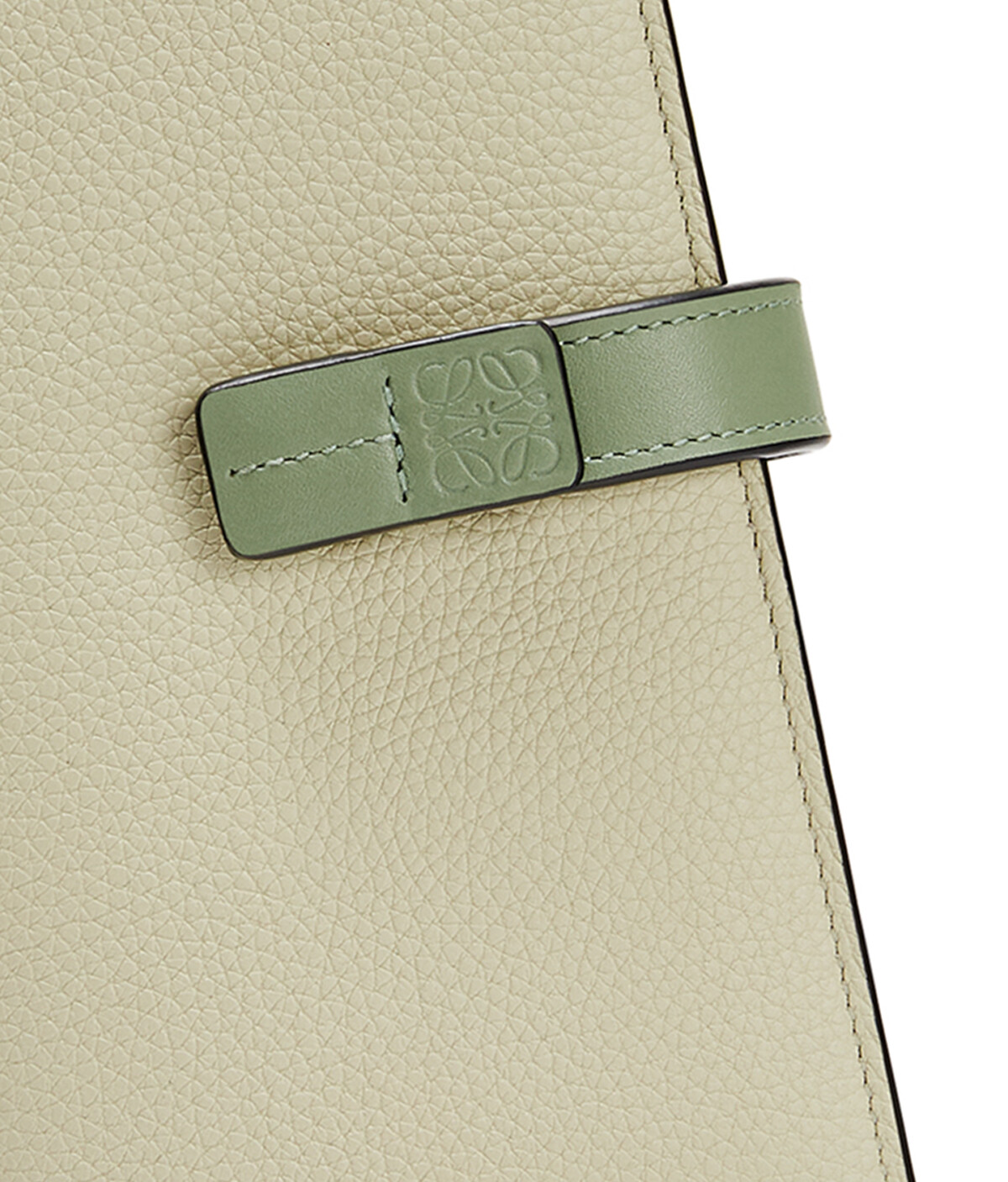 LOEWE Large Vertical Wallet Sage/Pale Green front