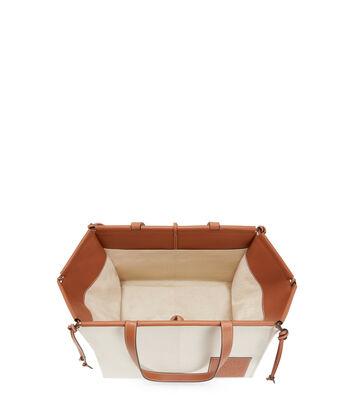 LOEWE Cushion Tote Large Light Oat  front
