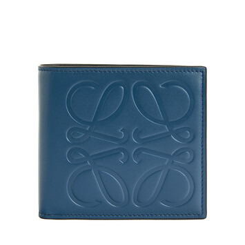 LOEWE Brand Bifold Coin Wallet 靛藍 front