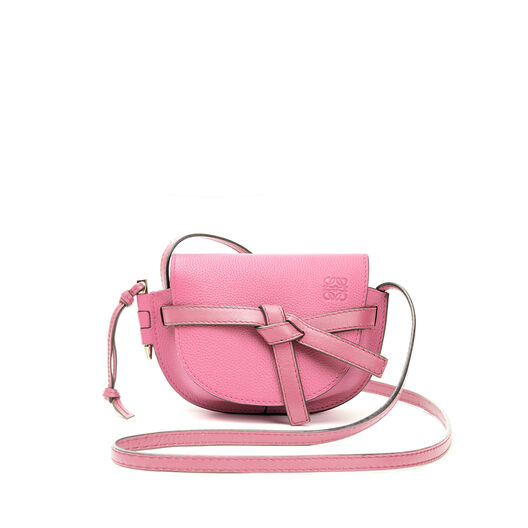 LOEWE Mini Gate Bag Wild Rose front