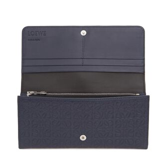 LOEWE Continental Wallet 海军蓝 front