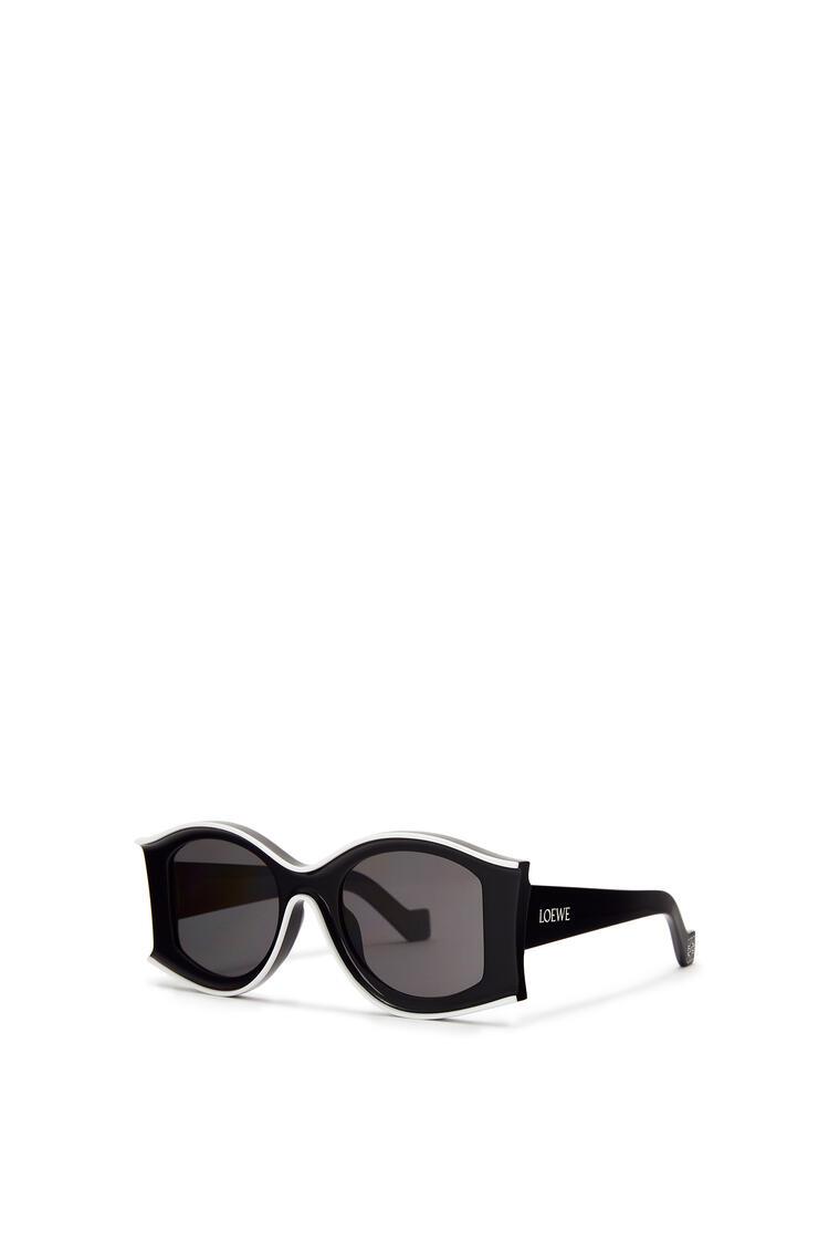 LOEWE Large Paula's Ibiza Sunglasses In Acetate Black/White pdp_rd