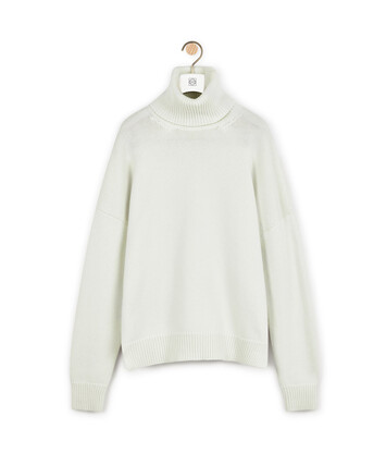 LOEWE High Neck Sweater Ecru front