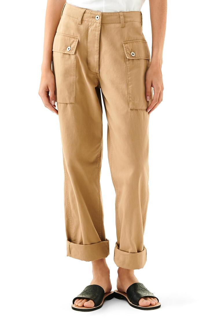 LOEWE Pantalón cargo en algodón Beige pdp_rd