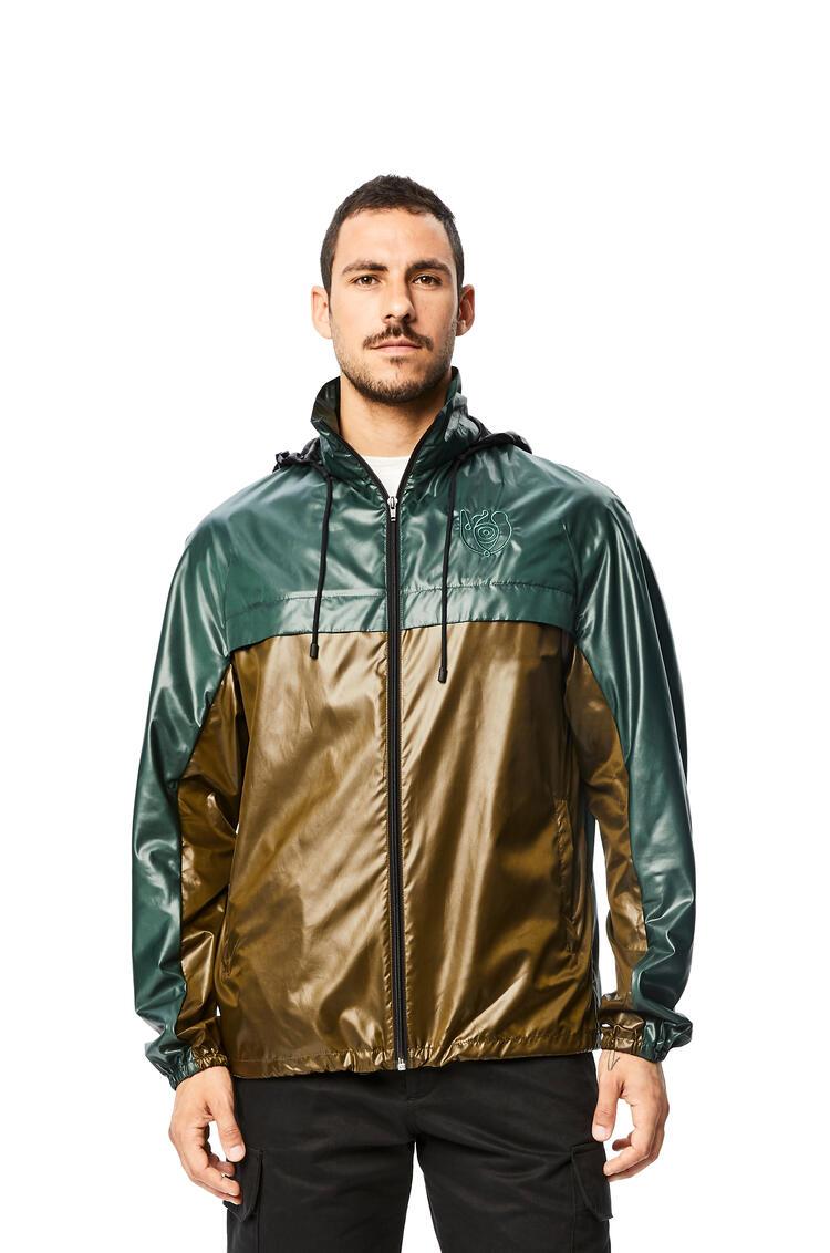 LOEWE Zip jacket in nylon Green pdp_rd