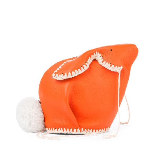 LOEWE Mini Bolso Conejo Macrame Naranja/Blanco all
