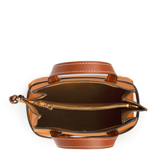 LOEWE Gate Top Handle Small Light Caramel/Pecan Color  front