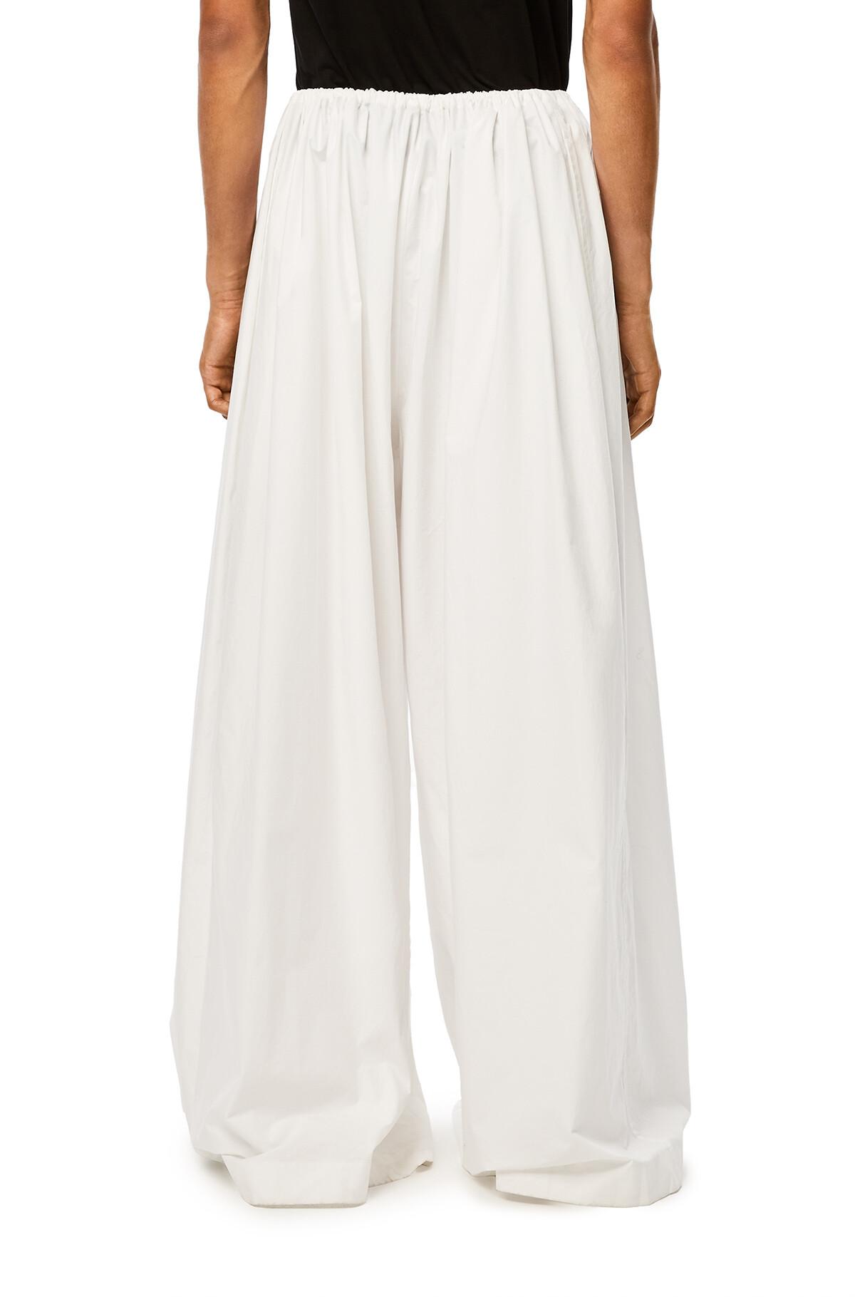 LOEWE Ov Drawstring Trousers White front
