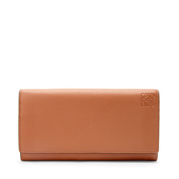LOEWE Rainbow Continental Wallet Tan/Multicolor front