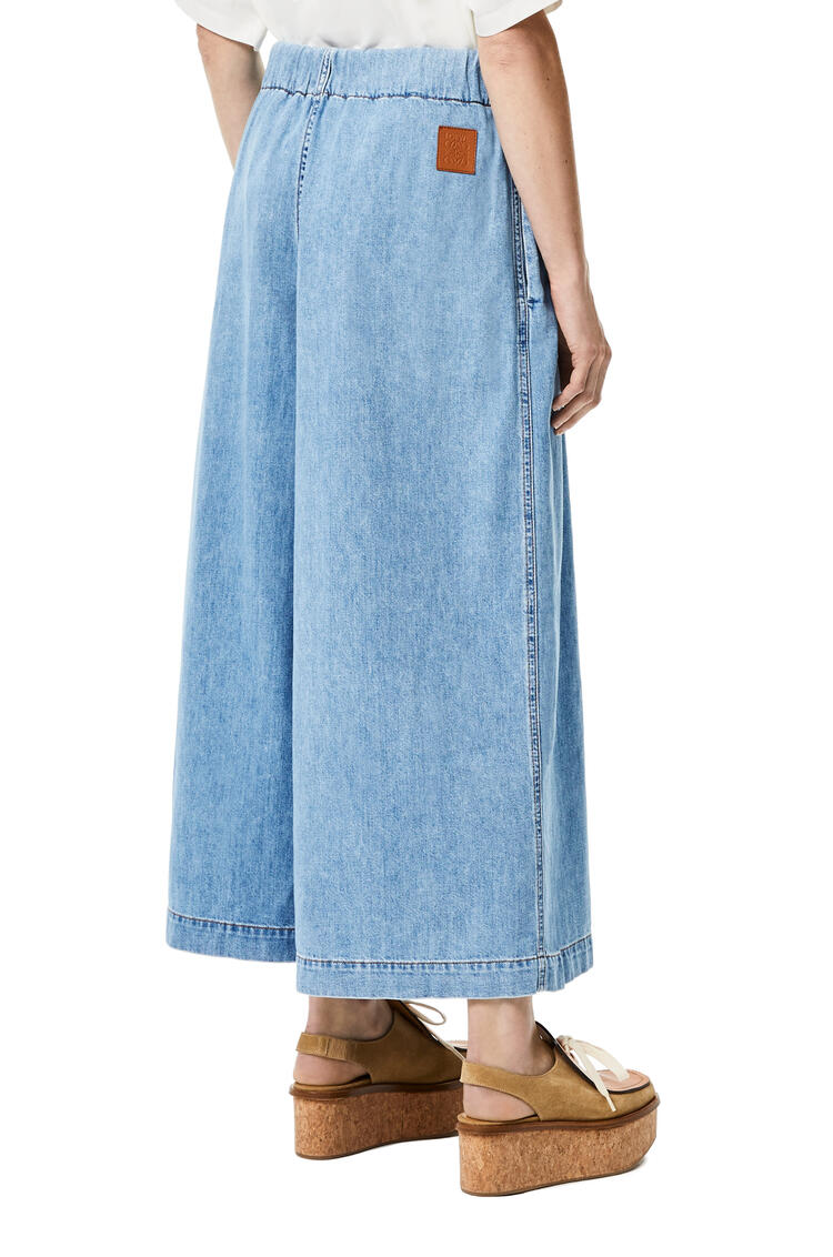 LOEWE Cropped belted jeans in stone washed denim Light Blue pdp_rd