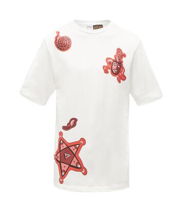 LOEWE Paula Print T-Shirt Blanco/Rojo front