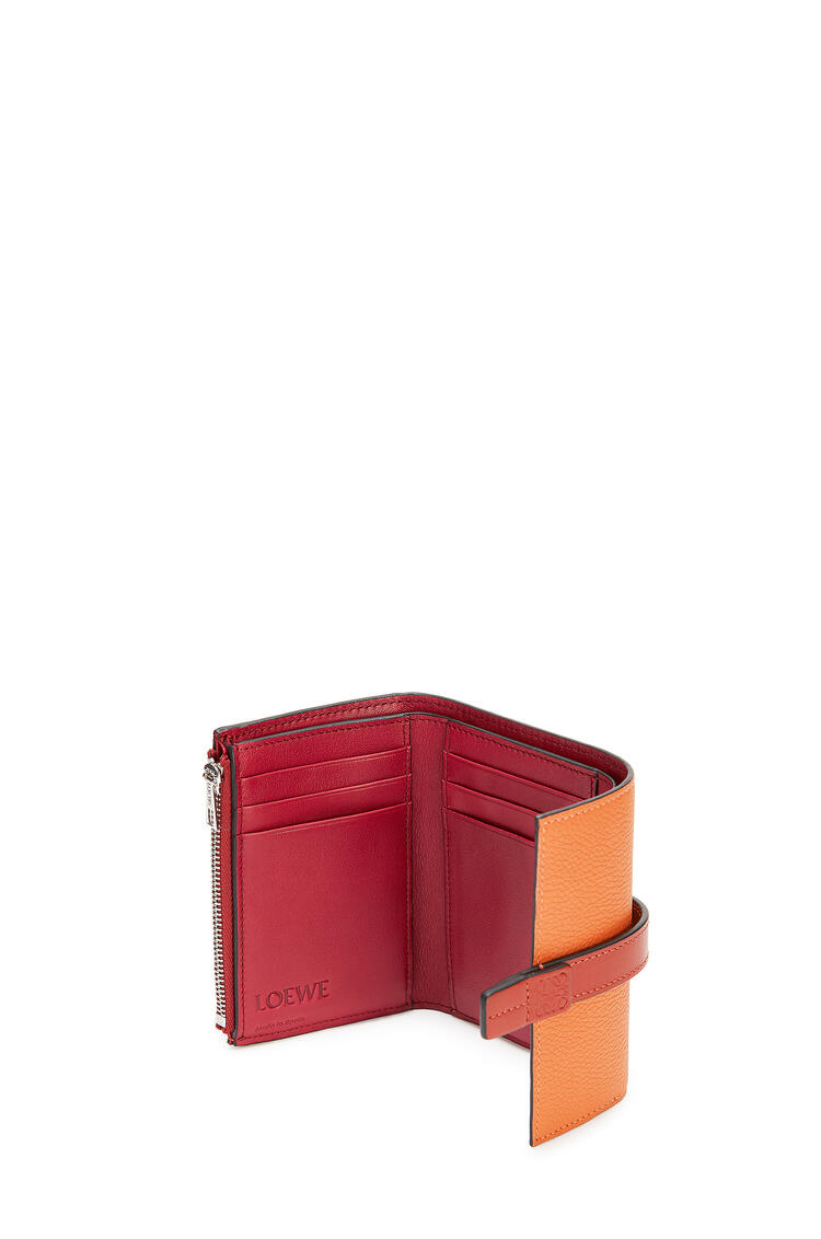 LOEWE Small Vertical Wallet In Soft Grained Calfskin Light Caramel/Pecan pdp_rd