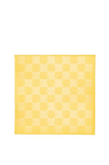 LOEWE 140X140 DAMERO SCARF Yellow Corn pdp_rd