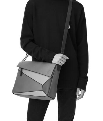 LOEWE Puzzle Messenger Bag Black front