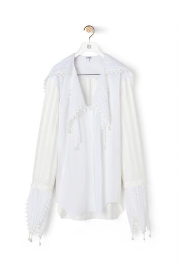 LOEWE Lace Petal Blouse White front