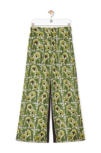 LOEWE Large Pants Negro/Amarillo/Verde front