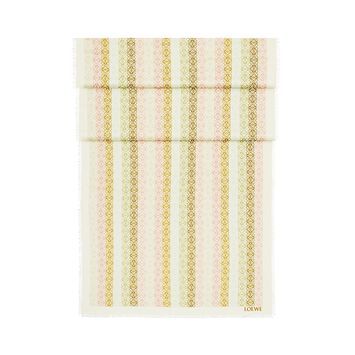 LOEWE 70X200 Scarf Anagram In Lines Blanco/Rosa front