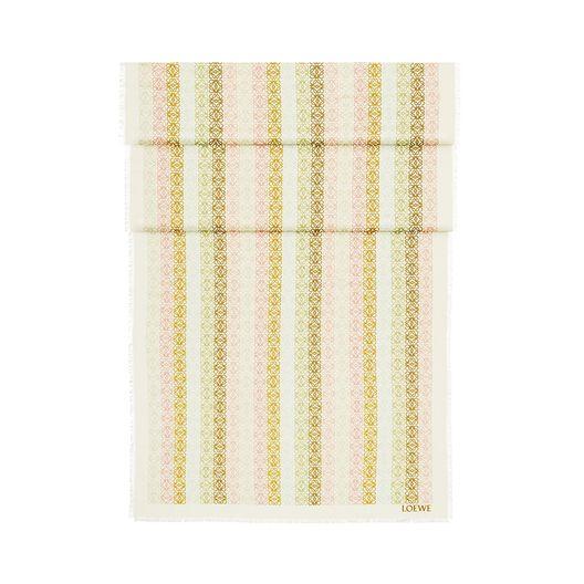 LOEWE 70X200 スカーフアナグラムINライン white/pink all